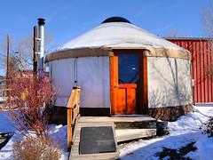 Colorado Yurt Company (Chuckcars) Tags: montrose colorado usa yurt show home canvas winter sky blue company