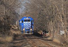 Grain Loads (GLC 392) Tags: glc 399 396 390 397 395 emd gp382 gp35 grain train loaded tree trees great lakes central railroad railway michigan mi owosso tunnel