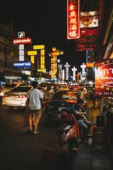 Thanon Yaowarat (KamrenB Photography) Tags: kamgtr kamrenb road bangkok thailand siam thai krungthep china chinatown street food night market dark light capital streetfood asian asia travel traveling explore cars traffic filmlook mandarin area district oriental motorbike motorcycle sit walk full crowded