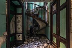 Hélix. (LoquioR) Tags: maison house escalier stairs vegetation exploration urbex urbaine decay abandoned abandonné