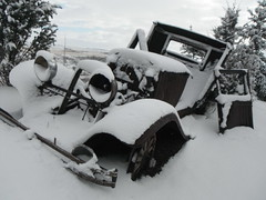 Cool Runnings .... (Mr. Happy Face - Peace :)) Tags: snow abandoned truck vintage winter travel alberta canada albertabound cans2s art2019