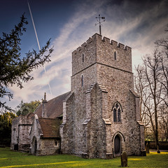 Thurnham . . St.Marys (Jez22) Tags: stmarys church thurnham parish village religion architecture british britain england kent building old christian history ancient copyright jeremysage plane contrail
