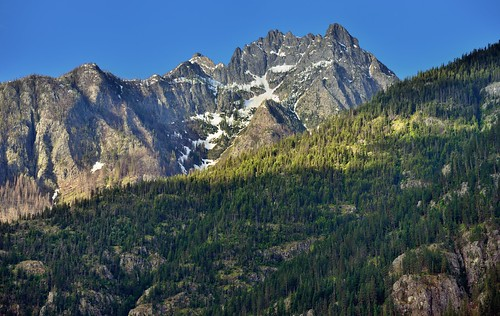 A View of Castle Rock from the North Cascades Lodge at Stehekin (North Cascades National Park Service Complex)