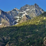 A View of Castle Rock from the North Cascades Lodge at Stehekin (North Cascades National Park Service Complex) thumbnail