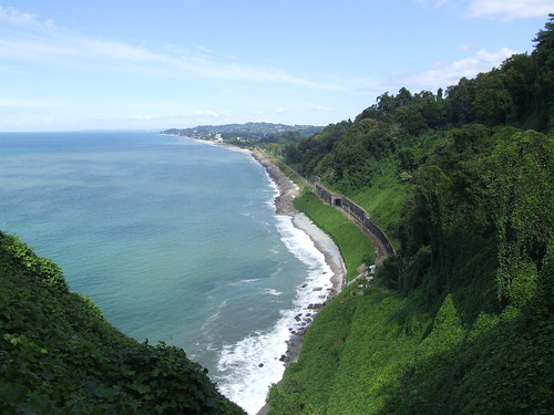 View over the coast of Black Sea, 08.09.2013.