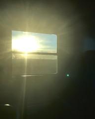 """Dawn In The Train"" (giannipaoloziliani) Tags: panorama landscape view controluce luce light backlight viaggio mattino morning sole sun yellow colore window finestrino treno italy colors dawn travel train alba iphone iphonephotography flickr"