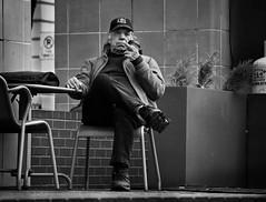 Homeless Person or University Professor? (Portland Salute) (coljacksg) Tags: the multipurpose portland salute starbucks pioneer courthouse square finger bird homeless fyou fuck you