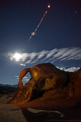January 20 Lunar Eclipse Composite (Jeff Sullivan (www.JeffSullivanPhotography.com)) Tags: total lunar eclipse composite astronomy arch rock formation eastern sierra sierranevada california usa landscape nature travel night astrophotography photography canon eos 5dmark iv road trip photo copyright 2019 january starstax top140