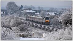 43303 on the rear (Mark's Train pictures) Tags: 43303 highspeedtrain hst snow snowtrain intercity125 intercity 1v50