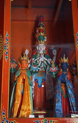 126. Interior, Avalokiteshvara Statue, Lihi Gompa, Lihi, Gorkha District, Manaslu Trek, Nepal (Jay Ramji's Travels) Tags: nepal lihi gorkhadistrict manaslutrek himalayas gompa buddhism placeofworship religious statue interior avalokiteshvara