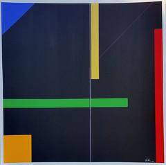 KONSTRUKTION ORANGE 2018 (HolgerArt) Tags: konstruktivismus gemälde kunst art acryl painting malerei farben abstrakt modern grafisch konstruktiv
