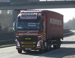 Ferguson Transport N8 AFT at Welshpool (Joshhowells27) Tags: lorry truck volvo fh volvofh curtainsider mac n8aft fergusontransport