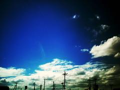 この場所 #7 (furisumeru) Tags: polaroid a550 sky cloud
