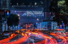 the battery at market street (pbo31) Tags: sanfrancisco california nikon d810 color night city november 2018 boury pbo31 lightstream motion traffic roadway financialdistrict marketstreet infinity red