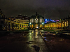 Zwinger 2 (deepaqua) Tags: night dresden rain zwinger courtyard
