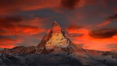 Zermatt mountains #red #nature (jamesalexandermichie) Tags: zermatt mountains switzerland nature red