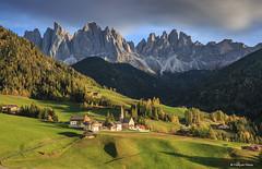 Dolomites (francoispobez) Tags: mountains dolomites italy autumn automne st magdalena val di funes landscape montagne alpes ngc clouds mountain tyrol