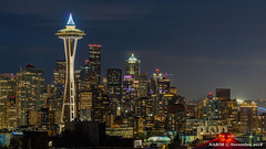 Seattle, WA: Downtown night skyline viewed from Kerry Park (nabobswims) Tags: hdr highdynamicrange ilce6000 lightroom mirrorless nabob nabobswims night nightfoto photomatix sel18105g seattle skyline skyscraper sonya6000 us unitedstates wa washington