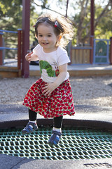 bounce! (louisa_catlover) Tags: portrait family child toddler daughter tabitha tabby 22months park playground outdoor trampoline playing fun beckettpark melbourne victoria australia spring november afternoon