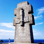 Monument to the Bretons of Free France at Pointe du Pen-Hir, Brittany, France thumbnail