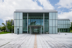 The facade of Tsuruoka Art Forum (鶴岡アートフォーラム) (christinayan01 (busy)) Tags: japan yamagata university architecture building perspective
