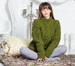 il_fullxfull.1698196752_hplr (ducksworth2) Tags: aran knitwear outfit green wool craft chunky knit