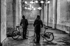 Ohquecestbeau (Mister MG) Tags: nb nancy street stanislas installation saintnicolas nuit vélo couple