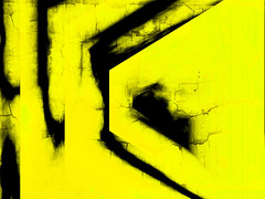 torn yellow (j.p.yef) Tags: peterfey jpyef yef digitalart yellow black abstract abstrakt