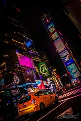 Times Square by night (corineouellet) Tags: cityscapes cityscene city newyork timessquare nyc travel canonphoto canon nightlife nightlights nightshot night nightscape taxi lights yellowcab cab street view pointofview pointdevue pov hdr composition exposure