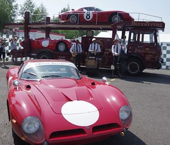 1966 Bizzarrini GT 5300 and a 1967 Bizzarrini P538 on the lower back of the transporter (Dave Hamster) Tags: lemansclassic lemans motorsport autosport motorracing racing 1966bizzarrinigt5300 1967bizzarrinip538 1966 bizzarrinigt5300 1967 bizzarrinip538 bizzarrini gt 5300 p538 bizzarrinigt gt5300 cartransporter transporter