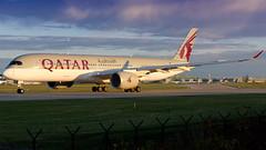 Qatar Airways Airbus A350 A7-ALA (Ian Marsh 787) Tags: qatar airways airbus a350 a7ala manchester airport aviation planes aircraft nikon d810 nikkor afs 70200mm f28 vrii