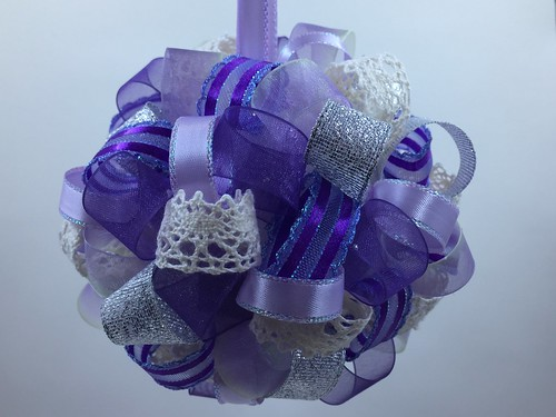 finished ornament for ribbon ornament