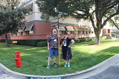"Tracey and Scott at the Mickey Avenue Street Sign • <a style=""font-size:0.8em;"" href=""http://www.flickr.com/photos/28558260@N04/44917929325/"" target=""_blank"">View on Flickr</a>"