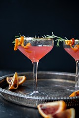 Blood Orange Cosmo Spritzer (DaydreamerDesserts) Tags: solarno bloodorange cosmo vodka cocktail winter martini cosmopolitan spritzer