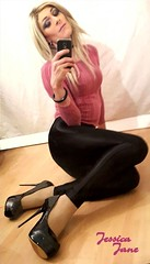 Shiny Shoes (jessicajane9) Tags: tg crossdresser transvestite feminization tgurl crossdressing tranny feminised tv crossdress transgender leggings heels trans xdress m2f travesti cd tgirl