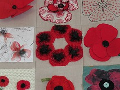 Llantwit Major Poppy wall hanging. (aitch tee) Tags: llantwitmajor rememberthem lestweforget poppies crafts wallhanging decorative southwales uk remembranceday worldwar1 centenary handicrafts wewillrememberthem llantwitmajorremembers 100years