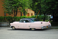 Classic Pink Cadillac DeVille (Infinity & Beyond Photography: Kev Cook) Tags: classic retro antique collectible car 1956 cadillac sedan deville auto skagway alaska cars photos