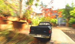 Backyard (Debmalya Mukherjee) Tags: f150flaresidesupercabpickup ford toy toycar toystory debmalyamukherjee canon550d 1018mm wideangle chandannagore car garden rush fast