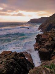 Sun-sea-swell (tonysemmens) Tags: porthcurno swell surf cornwall cornish coast coastline southwestcoastpath kernowbysvyken meurras seascape