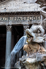 Fontana del Pantheon (Northern Tony) Tags: rome roman canon canon7dmarkii ancient building fountain water cityscape city citybreak architecture monument ruins tourist tourism church pantheon worship fontanadelpantheon lightroom6 europe eu canonef50mmf18stm 50mm nifty fifty