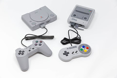 Playstation and Nintendo Classic Mini-Consoles (verchmarco) Tags: e3 nintendo playstationmove zocken supernintendo retro sony computerspiele games gamescom gaming device gerät technology technologie electronics elektronik computer control steuerung equipment ausrüstung wireless kabellos connection verbindung plastic kunststoff joystick isolated isoliert videorecording videoaufnahme console konsole internet noperson keineperson portable tragbar screen bildschirm appliance modern display anzeige fish christmas animals sunshine colorful boeing india balance lights duck