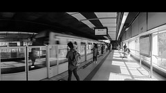 people in the city (Steve only) Tags: horizon 202 mc arsat 2828 28mm f28 kodak color plus 200 film epson gtx970 v750 bw snap peopleinthecity railway station