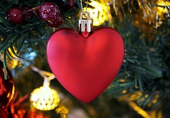 A Shot To The Heart (Skyline:)) Tags: lookingcloseonfriday christmasdecoration heart red festive christmas