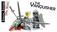 The Vanquisher (BrickWarriors - Ryan) Tags: brickwarriors custom lego minifigure weapons helmets armor vanquisher paladin knight medieval castle fantasy