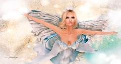Let There Be Peace on Earth (MISS SL ♛ Ireland 2016) Tags: moon amore christmas angel outside portrait secondlife