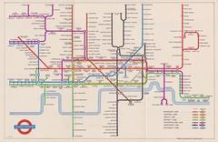 London Transport Railways; diagram of lines, 1954 - London Underground tube map, 1954 (mikeyashworth) Tags: londontransport londonunderground londontransportrailways tubemap1954 tubediagram1954 harrybeck roundel johnstontypeface london mikeashworthcollection londontubemap 1954 bakerlooline centralline circleline districtline metropolitanline northernline piccadillyline