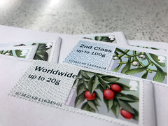 A collection of UK 2nd class stamps and UK to worldwide stamps (moneybright) Tags: stamps uk worldwide second first class letters white envelopes cards post office airmail mail plane travel word writing traditional christmas birthday anniversary celebration