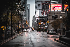 Rainy day on Yonge St. (A Great Capture) Tags: agreatcapture agc wwwagreatcapturecom adjm ash2276 ashleylduffus ald mobilejay jamesmitchell toronto on ontario canada canadian photographer northamerica torontoexplore bike bicycle city downtown lights urban weather 50mm rebel t5i cityscape urbanscape eos digital dslr lens canon wet water agua eau reflection mirror glass reflections outdoor outdoors outside traffic overcast rain rainyday rainy cloudy streetphotography streetscape photography streetphoto street calle illuminate lighting road yonge umbrella