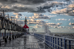 ST. JOSEPH'S LIGHTHOUSE HDR 5 MICHIGAN_20181023- 2018 MICHIGAND85_7694-Edit-Edit-Edit (Bonnie Forman-Franco) Tags: michigan lakemichigan lighthouse lighthouses bentonharbor bentonharbormichigan beach beaches nikon nikonphotography nikond850 photoladybon waterscape waterscapes landscape landscapephotography waterscapephotography hdr