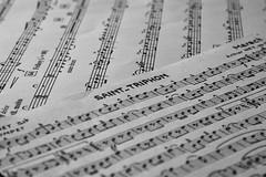 Saint-Triphon. (wimjee) Tags: nikond7200 nikon d7200 afsdx1680mmf284eedvr sainttriphon mars muziek music noten notes monochrome zwartwit bladmuziek sheetmusic